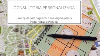 Mapa do Porto, caneta e planner de viagem