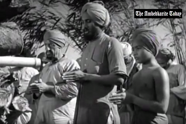 Udham Singh (centre) in a scene from 'Elephant Boy