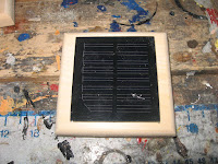 Solar panel centered on top