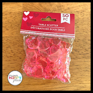 Dollar Tree Valentine's Day Table Heart Scatter for Fine Motor Activity