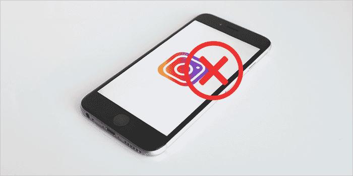 Excluindo a conta do Instagram pelo celular