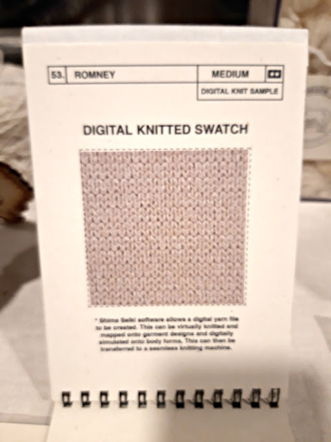 Digital knitted swatch from designers' toolkit - The Woolist talk - Theatr Clwyd Sept 2019