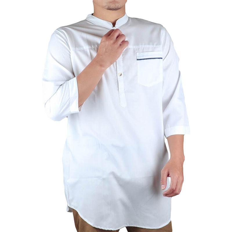 Baju Koko Pria / Kurta Pakistan Putih