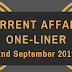 Current Affairs One-Liner: 2nd September 2019