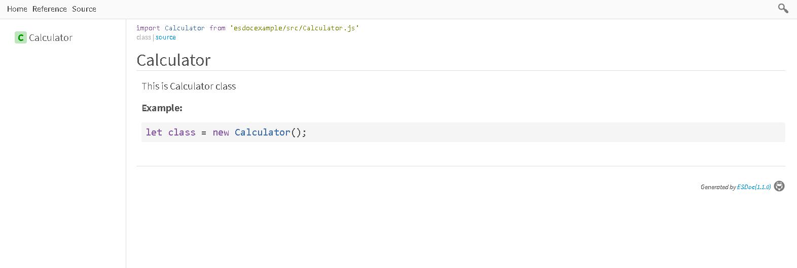 esdoc javascript documentation generator tool