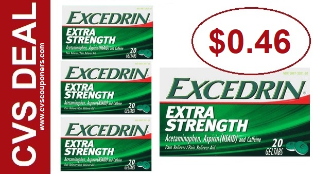 Excedrin CVS Couponers Deal $0.46 - 8/4-8/10