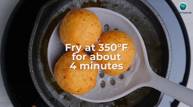 cooked potato cheese balls