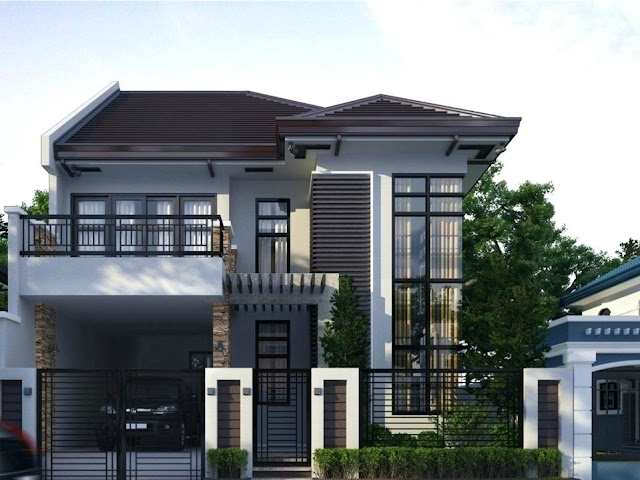 Simple modern 2 storey bungalow designs