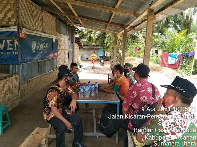 Dengan Cara Komunikasi Sosial Personel Jajaran Kodim 0208/Asahan Himbau Tetap Jaga Kesehatan Dan Kemanan Diwilayah Binaan