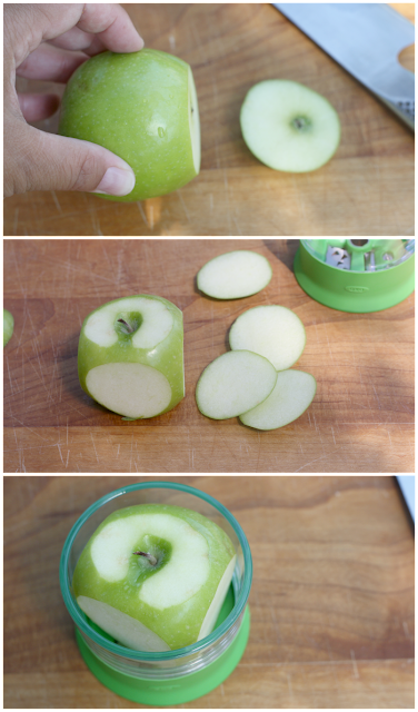 preparing apple for spiralizer