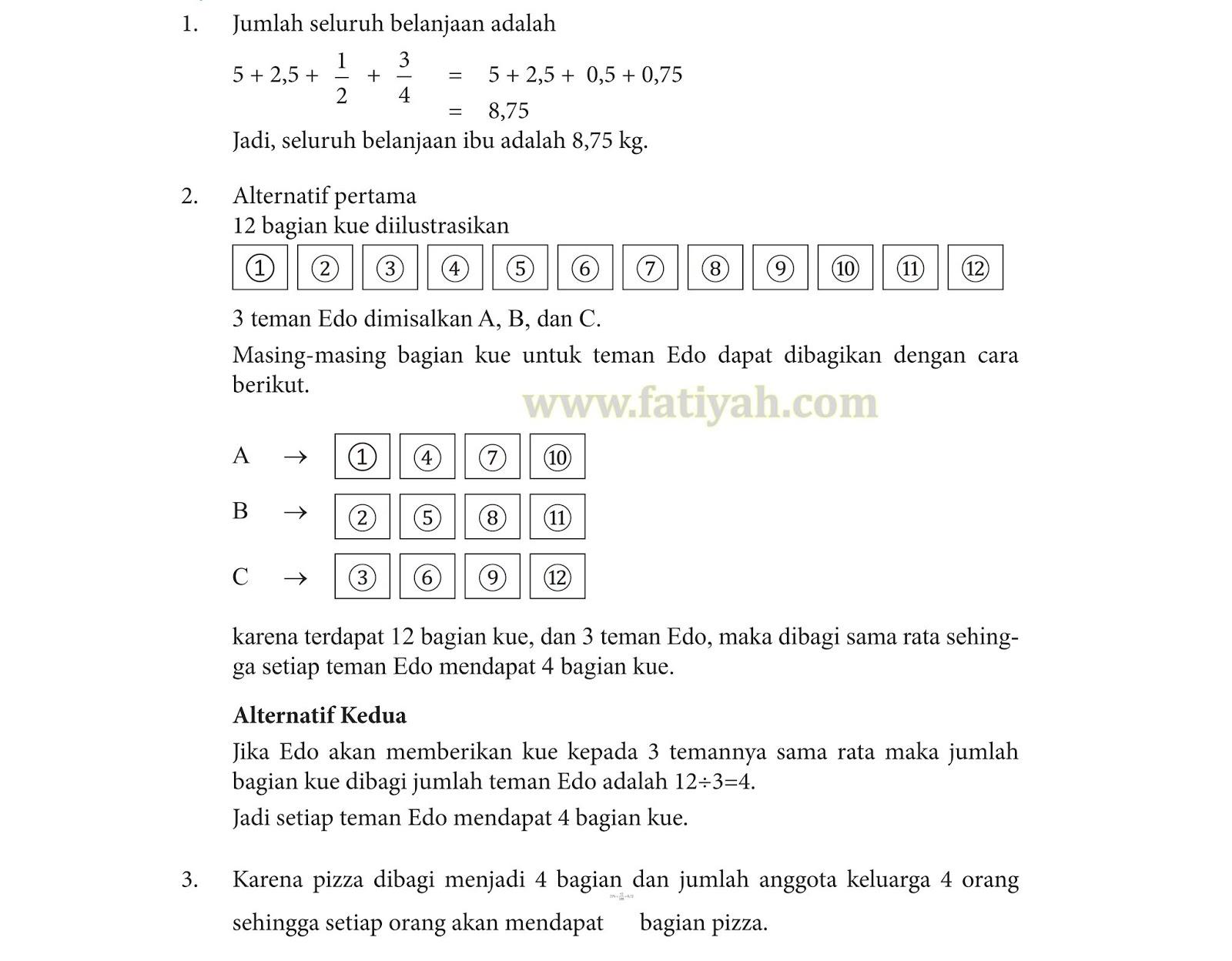 Kunci Jawaban Matematika Kelas 4 Sd Halaman 29 39 40 42 43 Lifanen
