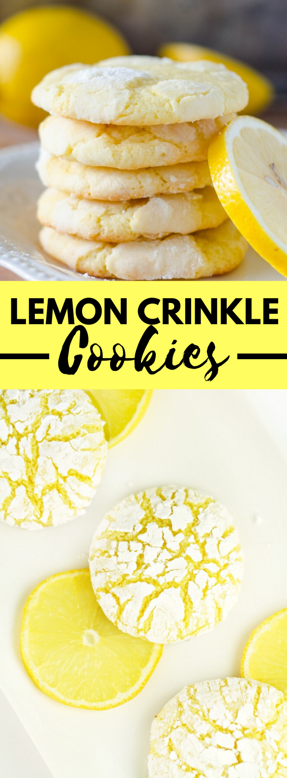 LEMON CRINKLE COOKIES #desserts #favouriterecipes