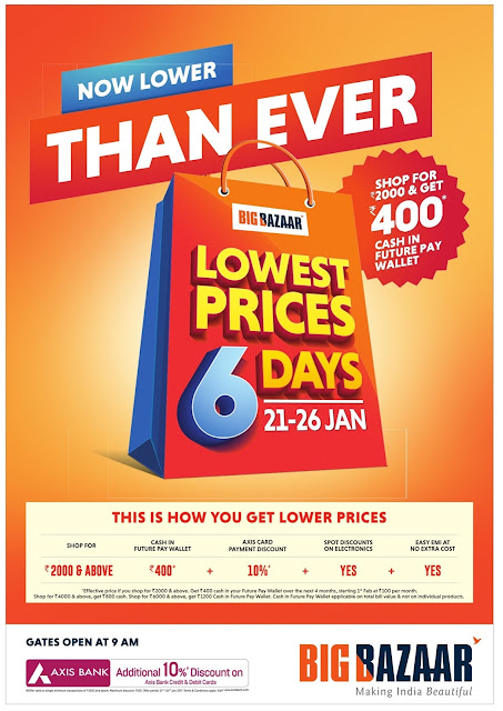 BigBazar, Ezone & FBB now Lower than Ever | January 2017 republic day special offers