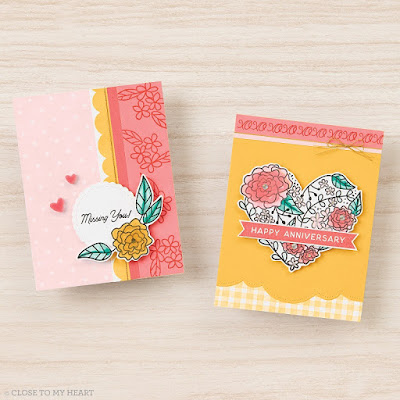 cards created October 2020 SOTM With All My Love