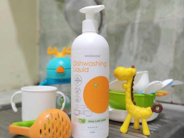 Review Oh My Orange Antibacterial Dishwashing Liquid untuk peralatan makan bayi