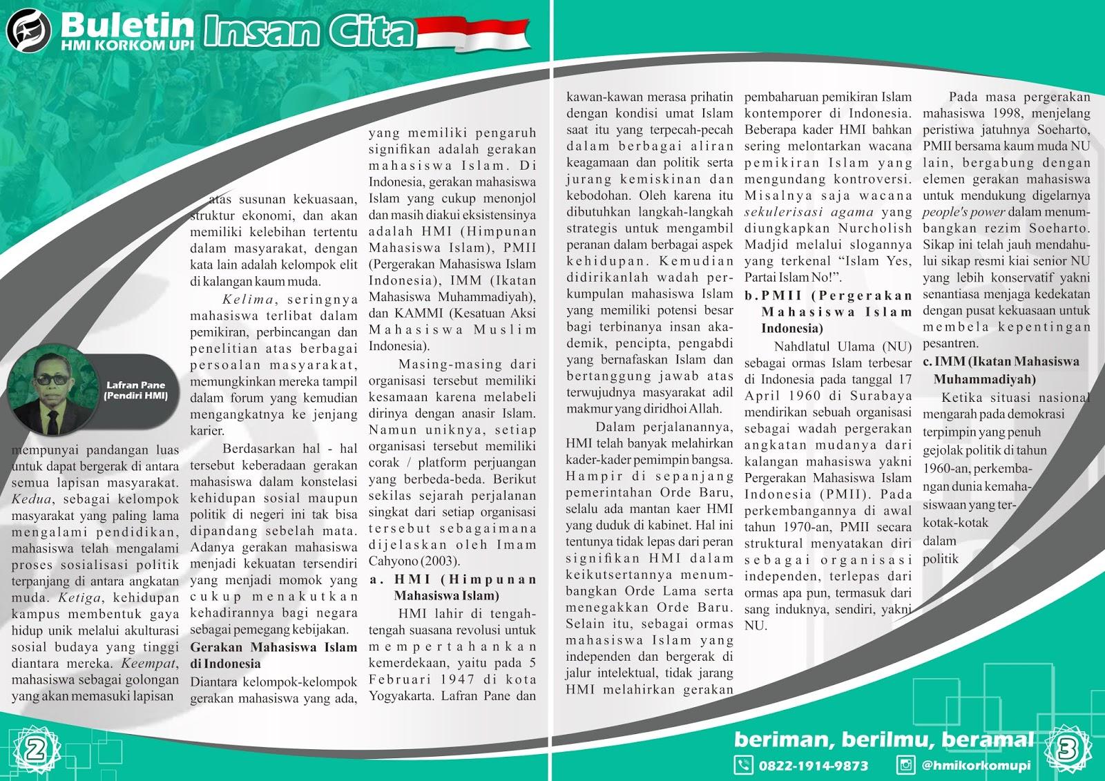 MAHASISWA ISLAM DAN PERGERAKAN Buletin 002 2