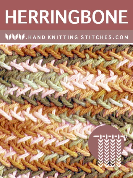 Hand #Knitting Stitches - Herringbone Twist Pattern #knittingstitches