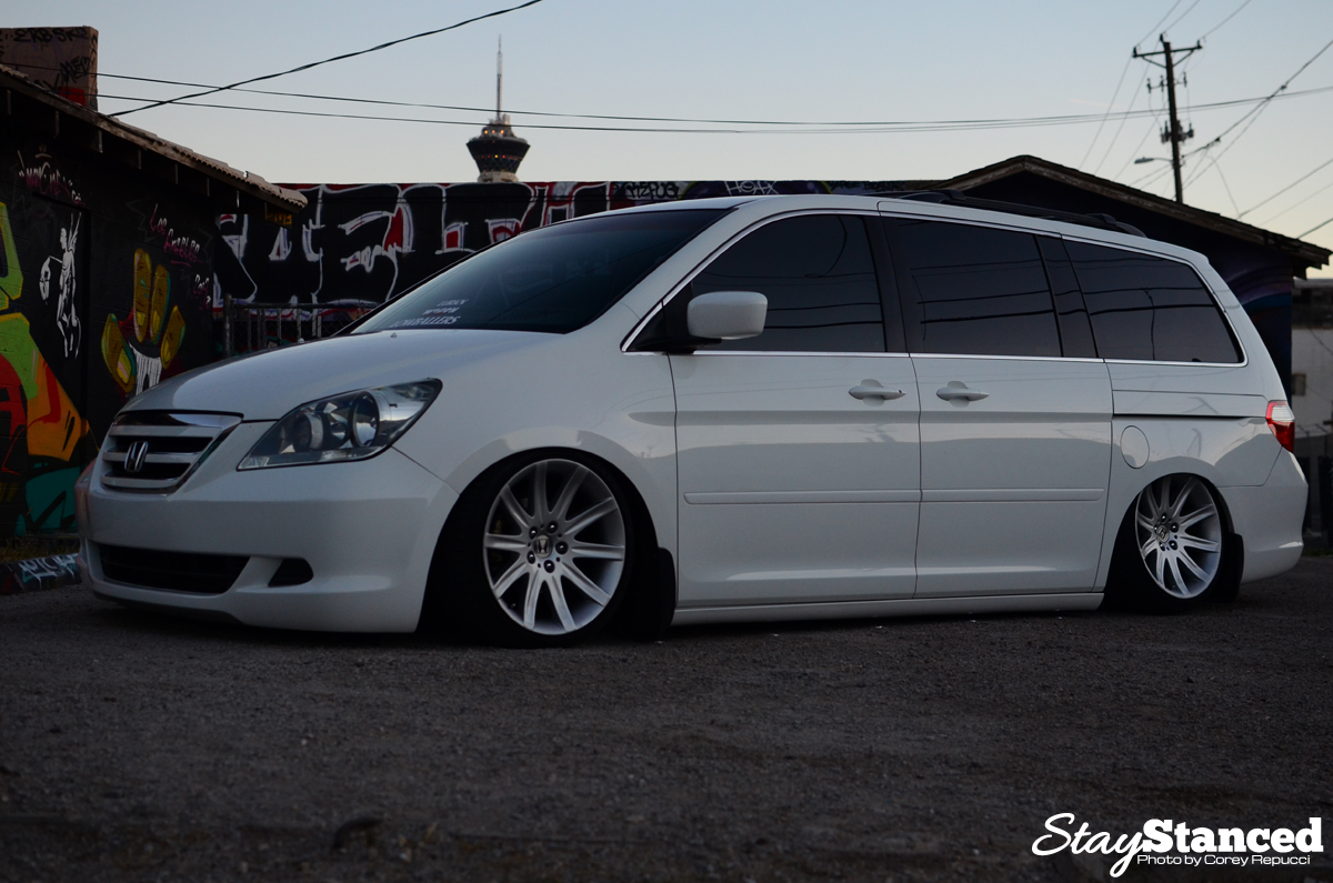 Jimmy Francos Bagged Honda Odyssey On BMW 7 Series Wheels
