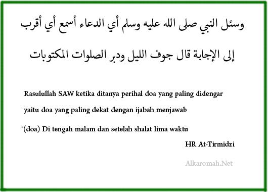 Hadits Tentang Doa Setelah Sholat Fardhu