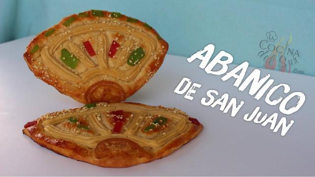 receta Abanico de Feria Málaga o coca dulce de San Juan