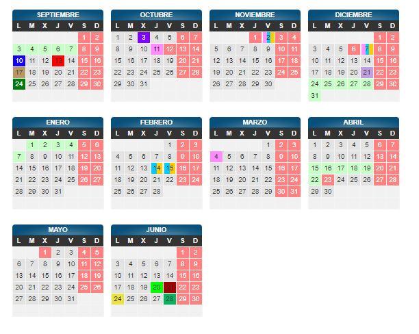 Calendario Escolar Aragon 2020.Ampa Ies Goya Zaragoza Calendario