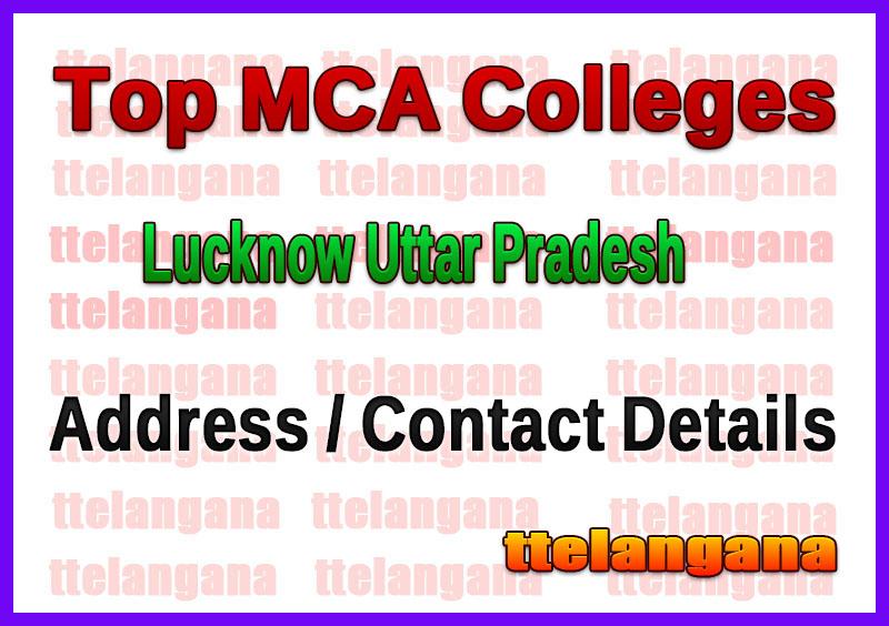 Top MCA Colleges in Lucknow Uttar Pradesh