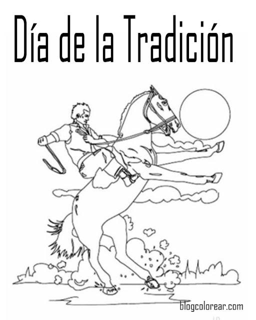 Dibujos para colorear día de la tradición