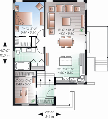 Desain Rumah Minimalis Ukuran 8x12