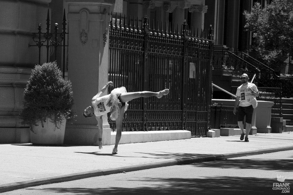 bailarin en las calles de nueva york