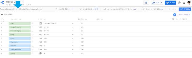 GoogleデータポータルとSearch Consoleのデータソース接続手順7