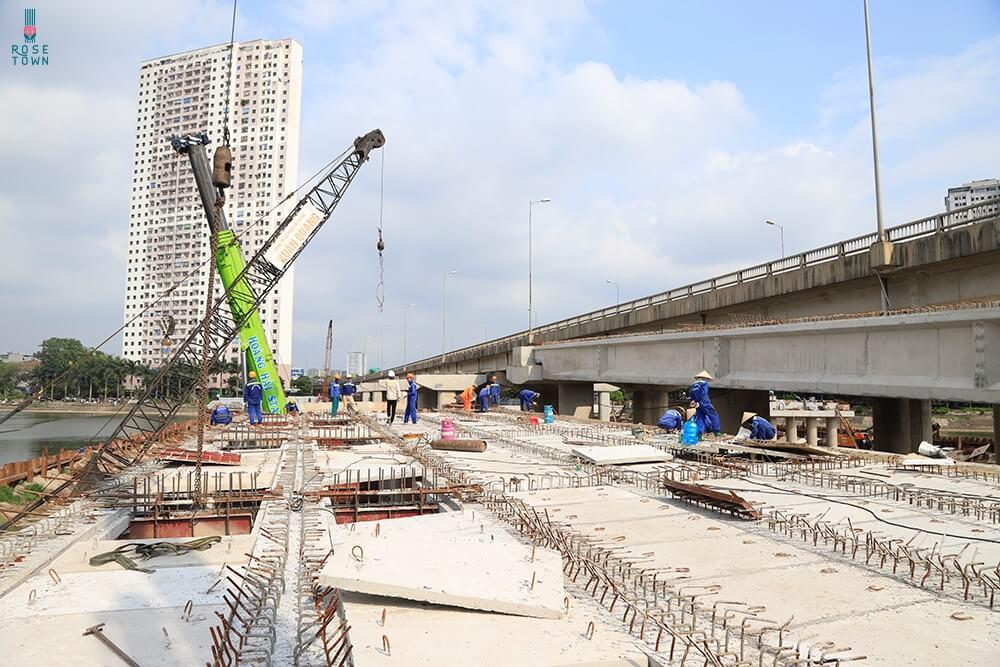 Thực tế công trường dự án vành đai 3 nối Hồ Linh Đàm - Hoàng Mai