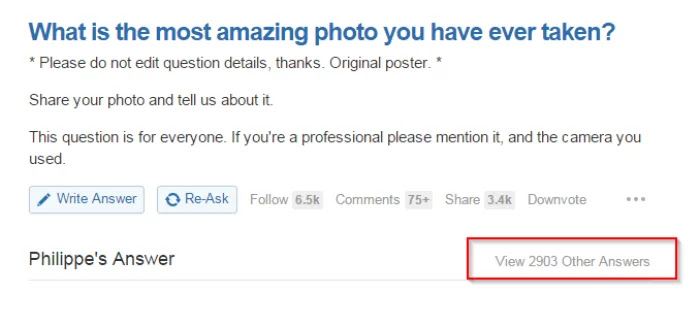 Quora Most Answered Question