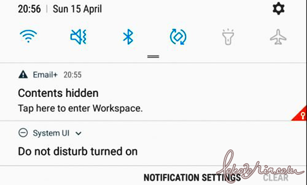 Contents hidden on Samsung Galaxy