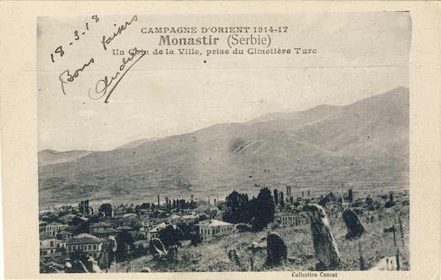 Panorama of Bitola from the Turkish cemetery to the southwest in 1917.