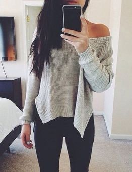Women's Chic Style Loose Fitting Sweater