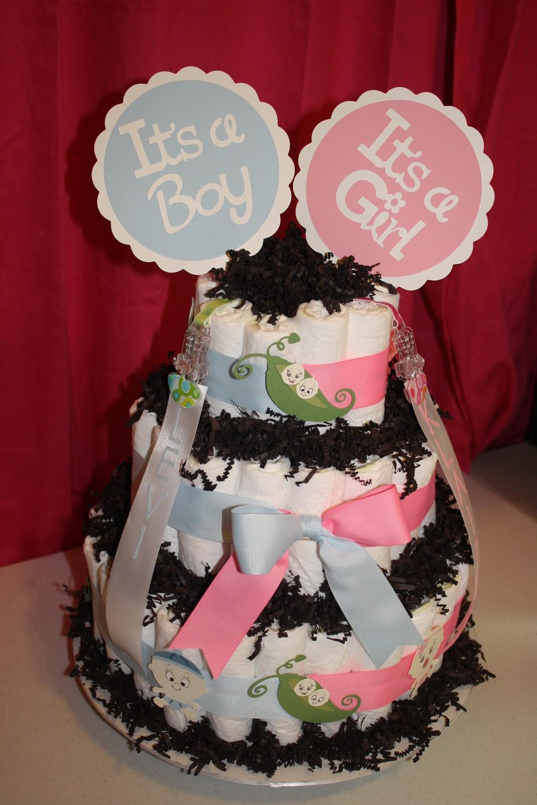 Scrappingwest Twins Diaper Cake