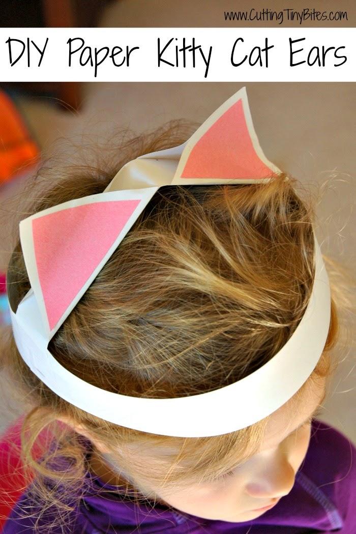 DIY Paper Kitty Cat Ears craft