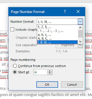 Mengganti Format Nomor Halaman Word