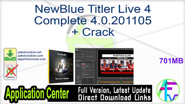NewBlue Titler Live 4 Complete 4.0.201105 + Crack