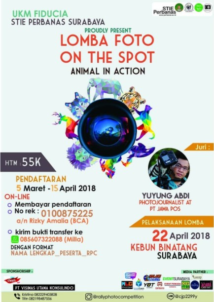 Lomba Fotografi On The Spot Animal In Action 2018 STIE Perbanas Surabaya