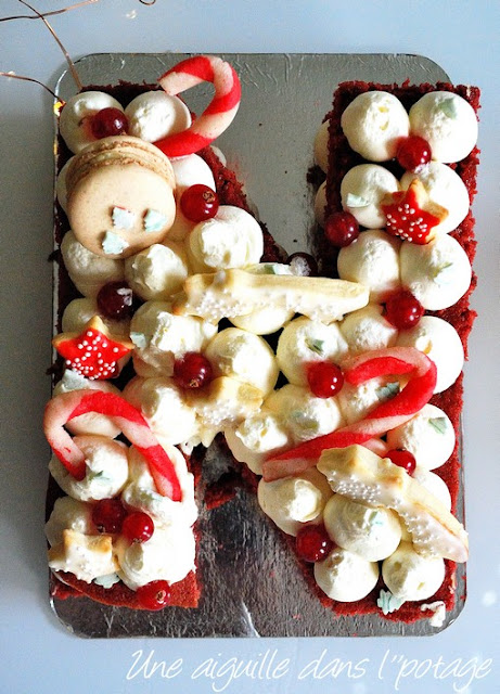number cake de Noël cuisine addict