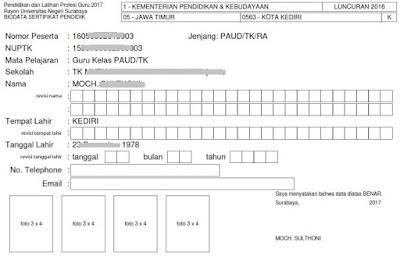 biodata peserta sertifikasi