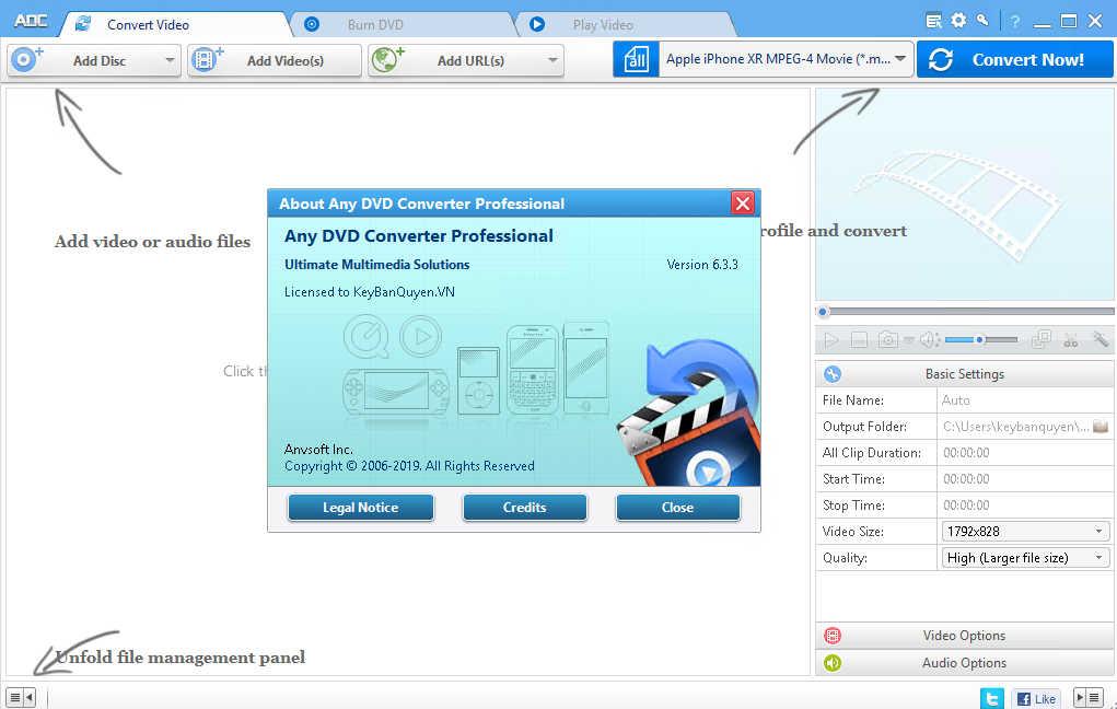 Download Any DVD Converter Professional 6.3.3 Full Key Serial , Phần mềm chuyển đổi rất nhiều định dạng Video và hơn thế nữa.