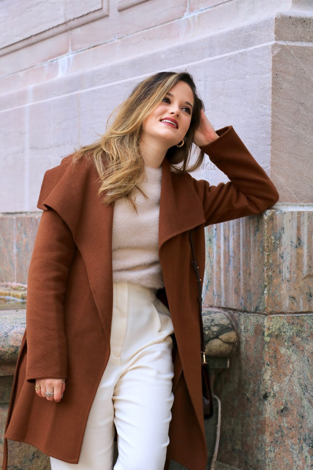 Nyc fashion influencer Kathleen Harper's fall photo shoot on the Upper Westside.
