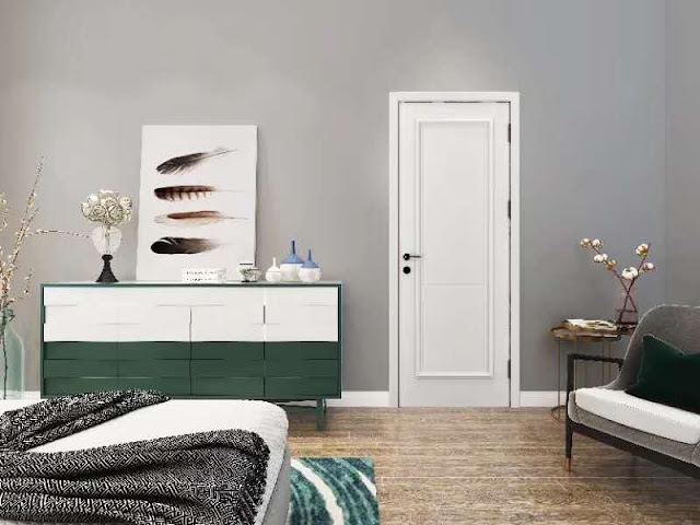 Would you like such a minimalist style wooden door?