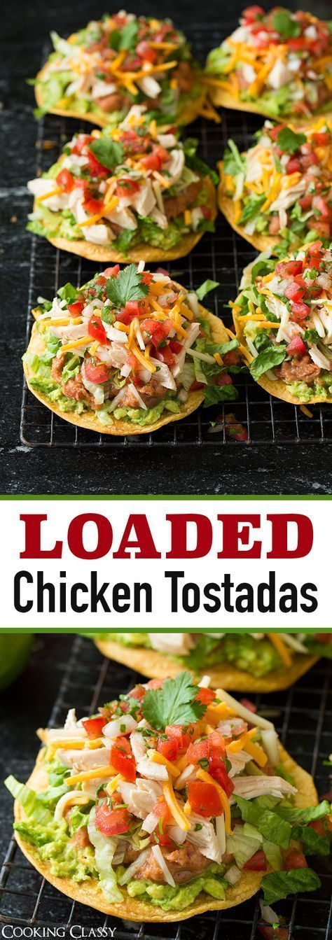 Tostadas (with Chicken Guacamole and Beans)