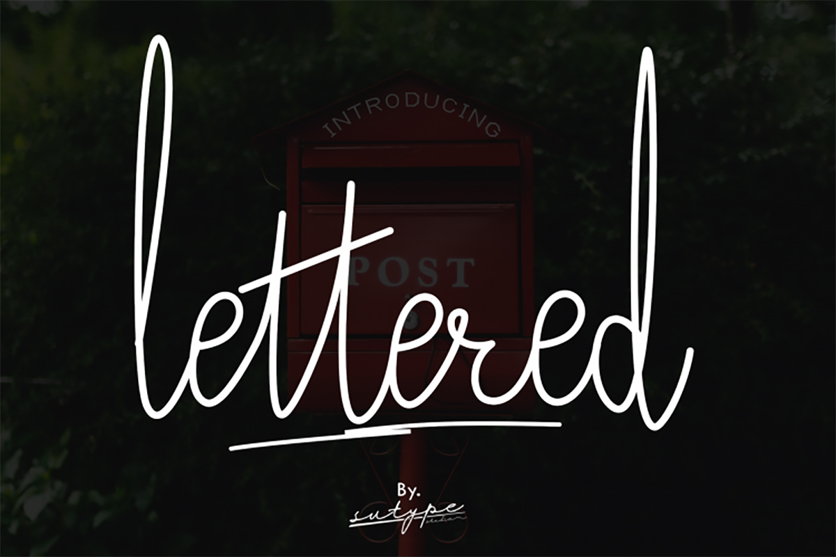 Lettered Signature Font - Free Script Typeface