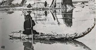 Madan child with bundle boat
