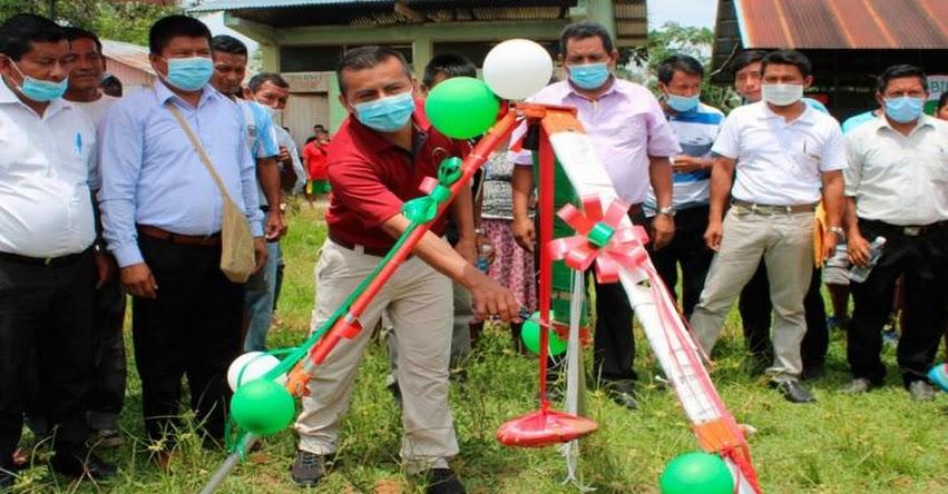 Gobierno Regional inicia construcción de colegio en comunidad indígena de Yutupis en Amazonas