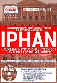 apostila Concurso IPHAN 2018 download gratis